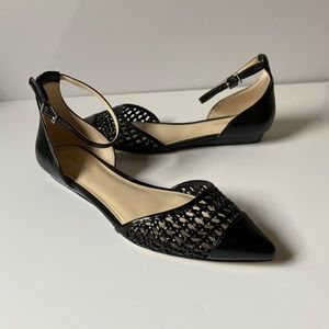 NWT BCBGeneration Black Pointed Toe Woven Flats